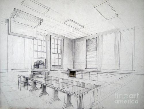 Layout de sala de aula, por Anthony Coulson, 1989.